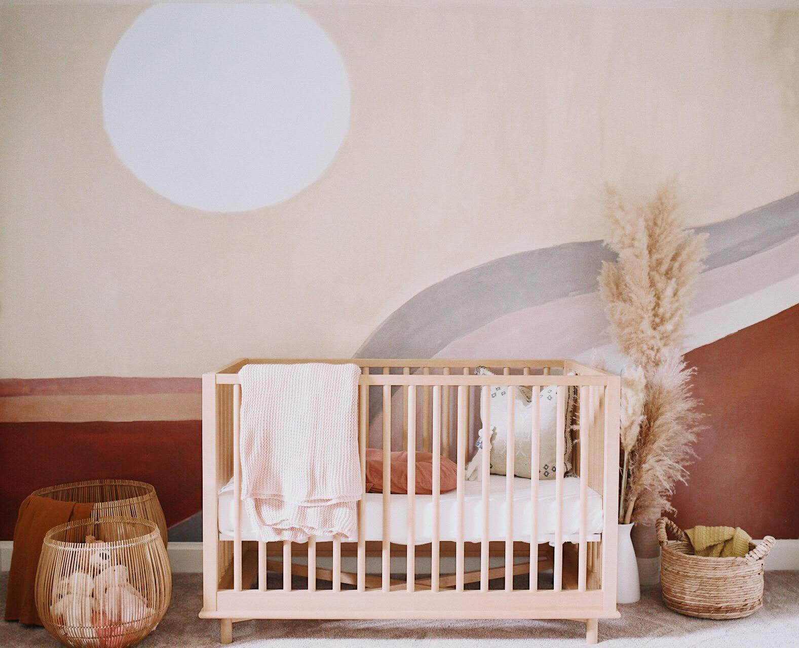 Desert Sunrise Mural in Boho Nursery Design: Sydney Penner 2020 Nursery Trends: Desert Sunrise