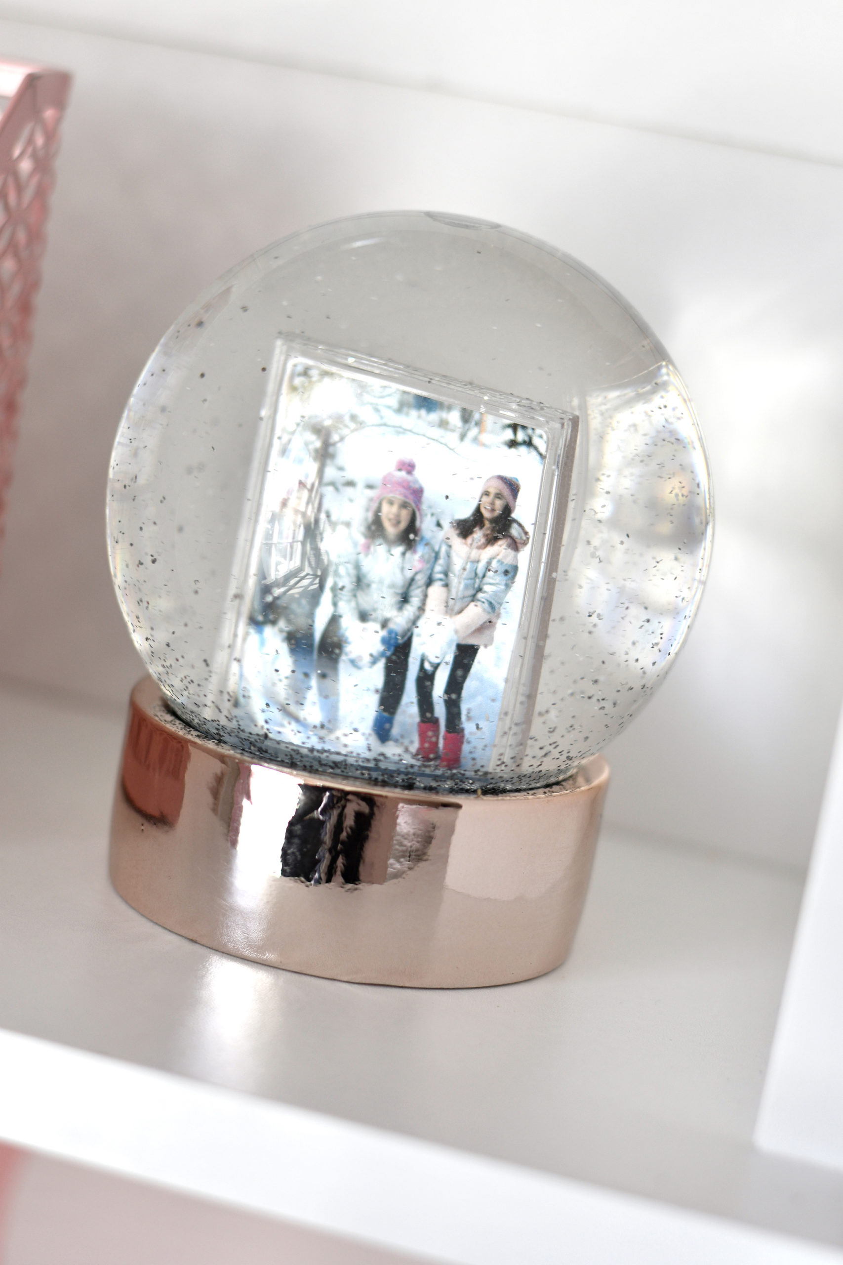 Glitter Snow Globes You Can Customize with Your Own Photos