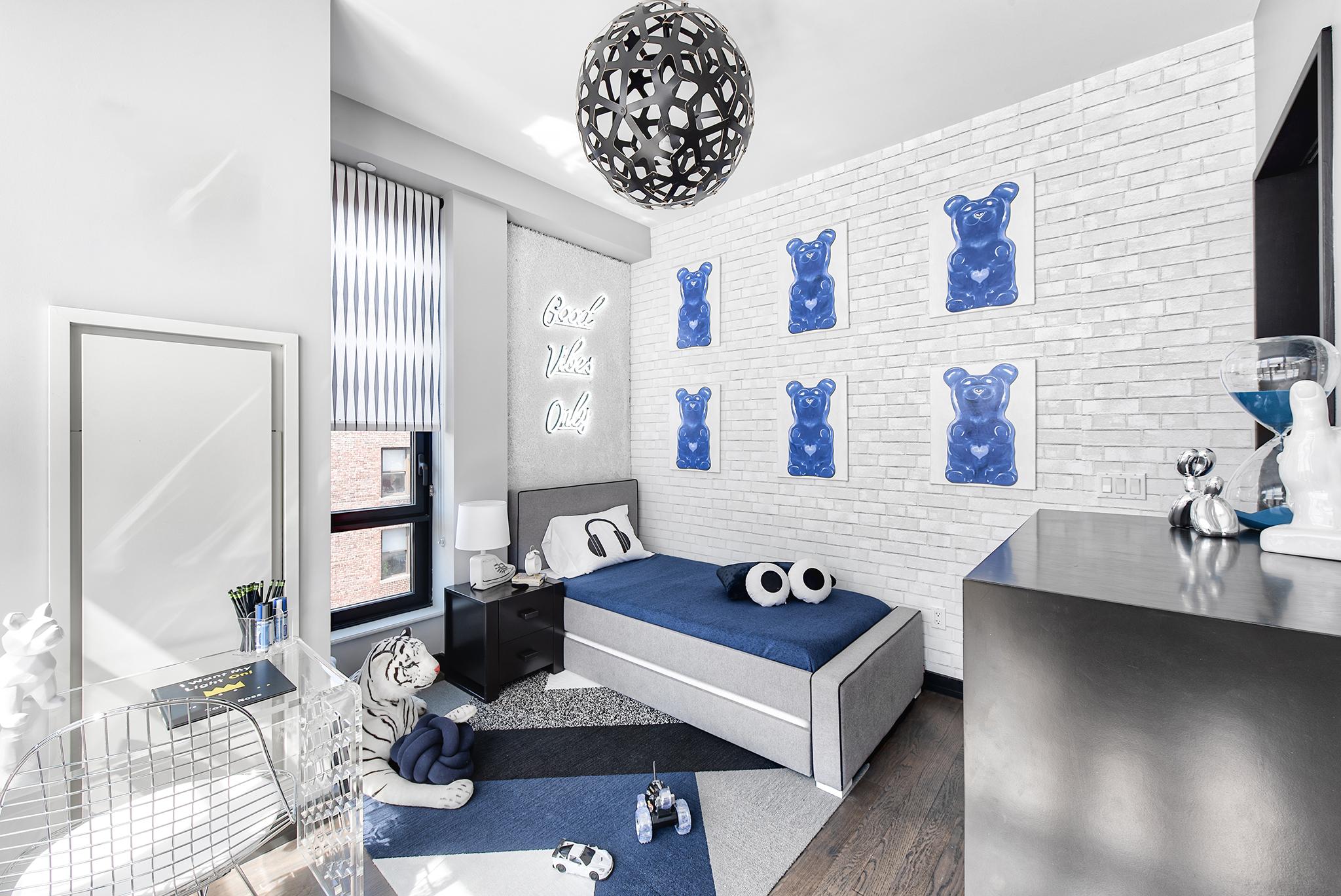 Modern Cool Boys Blue and Gray Boys Room