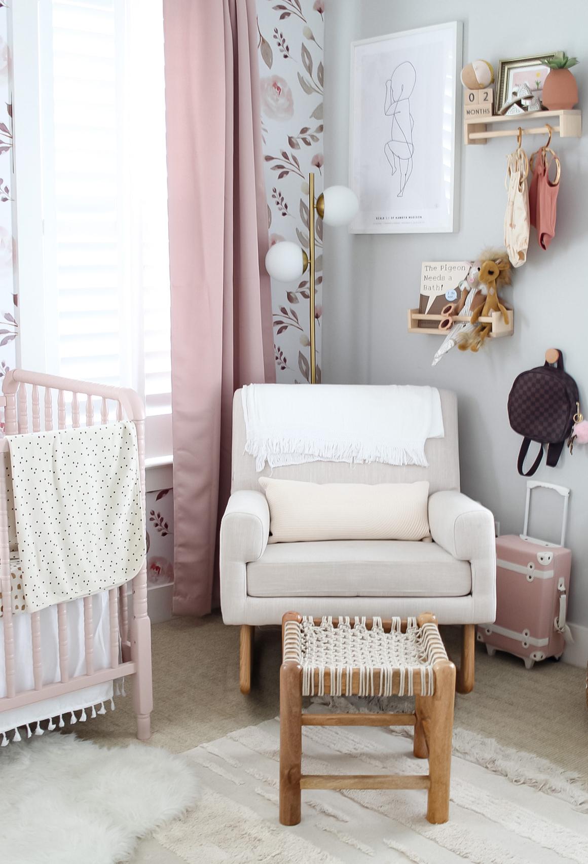 Nursing Nook in Shared Boy and Girl Nursery