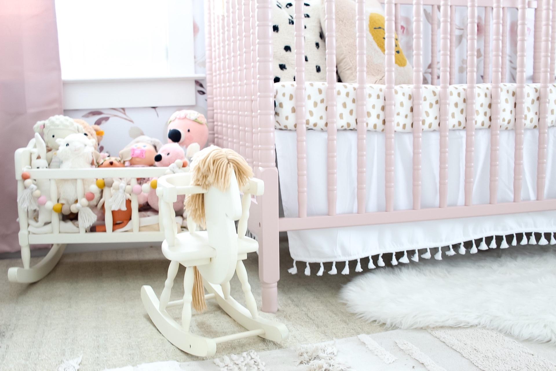 Baby Girl Nursery with Pink Crib