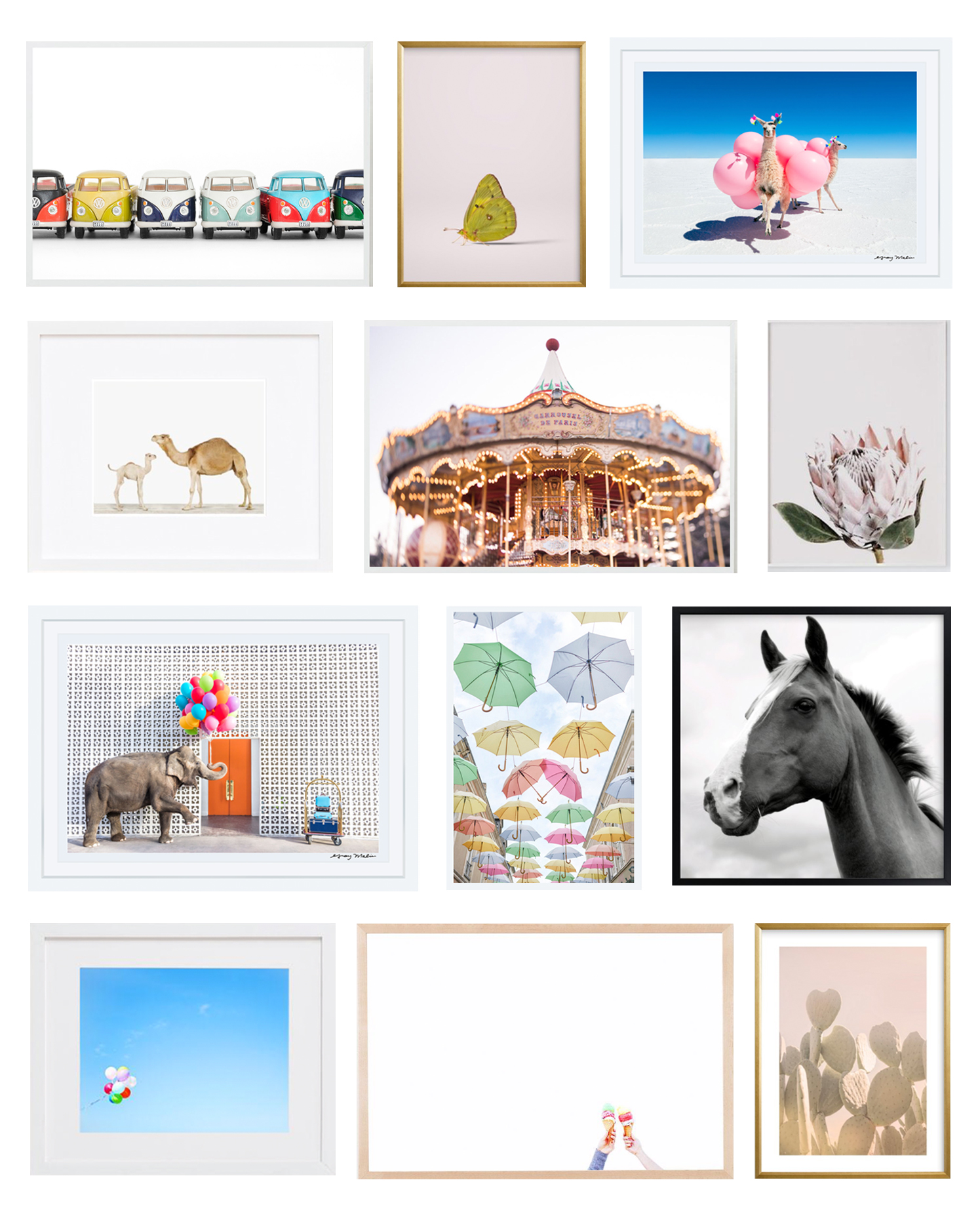 Favorite Photograph Prints for Nursery and Children's Room Art