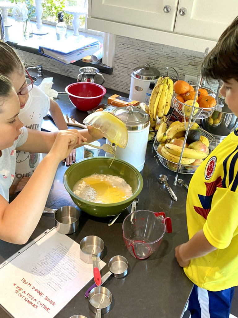 Kids of any age love to help with the mixing process!