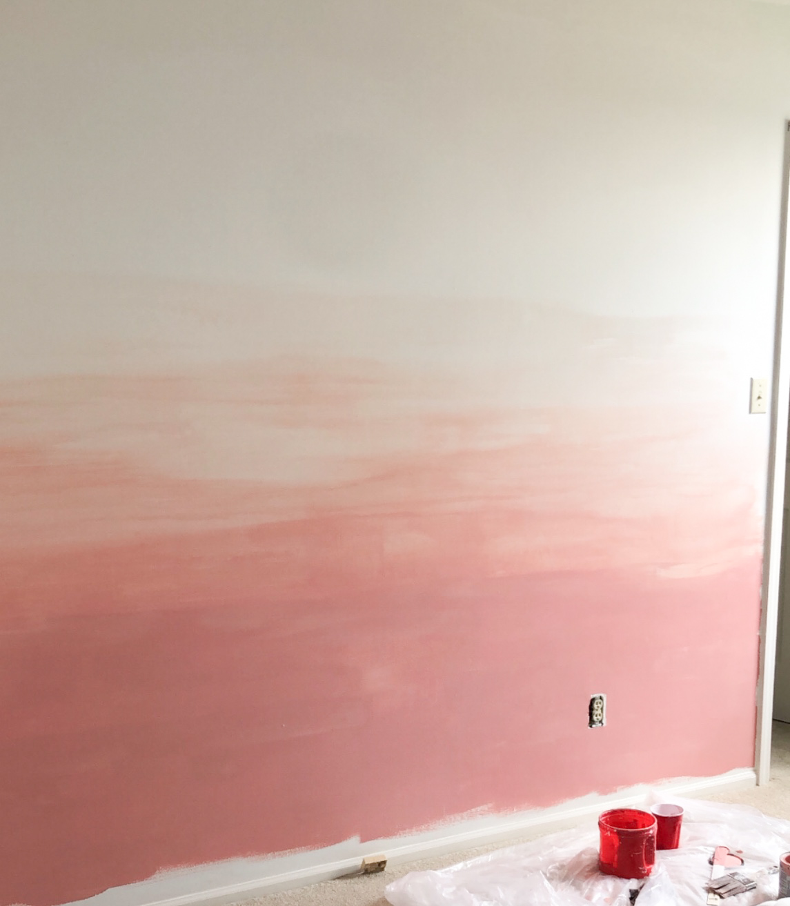 DIY Ombre Wall Tutorial