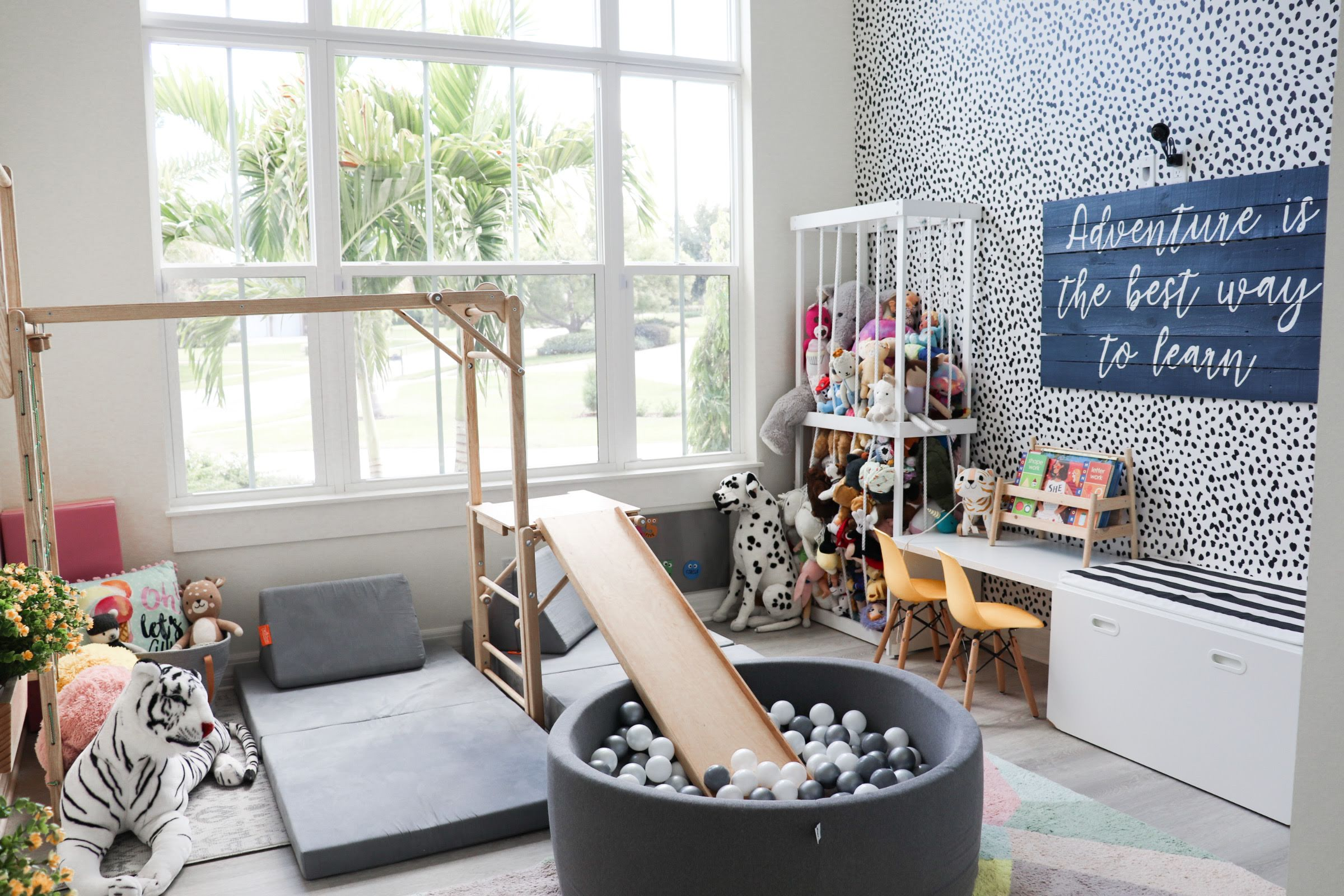 Custom Playroom with Jungle Gym and Ball Pit