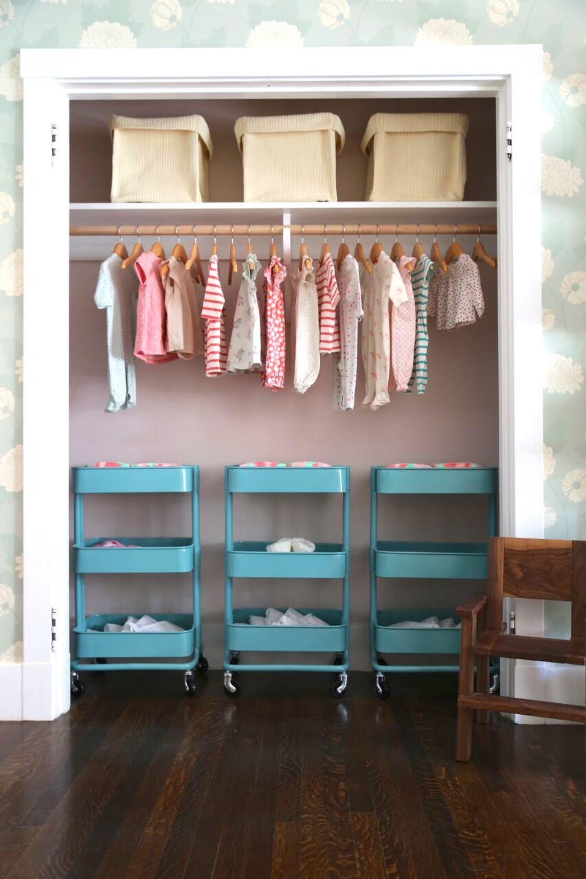 Organized Nursery Closet in Showcase Nursery Design