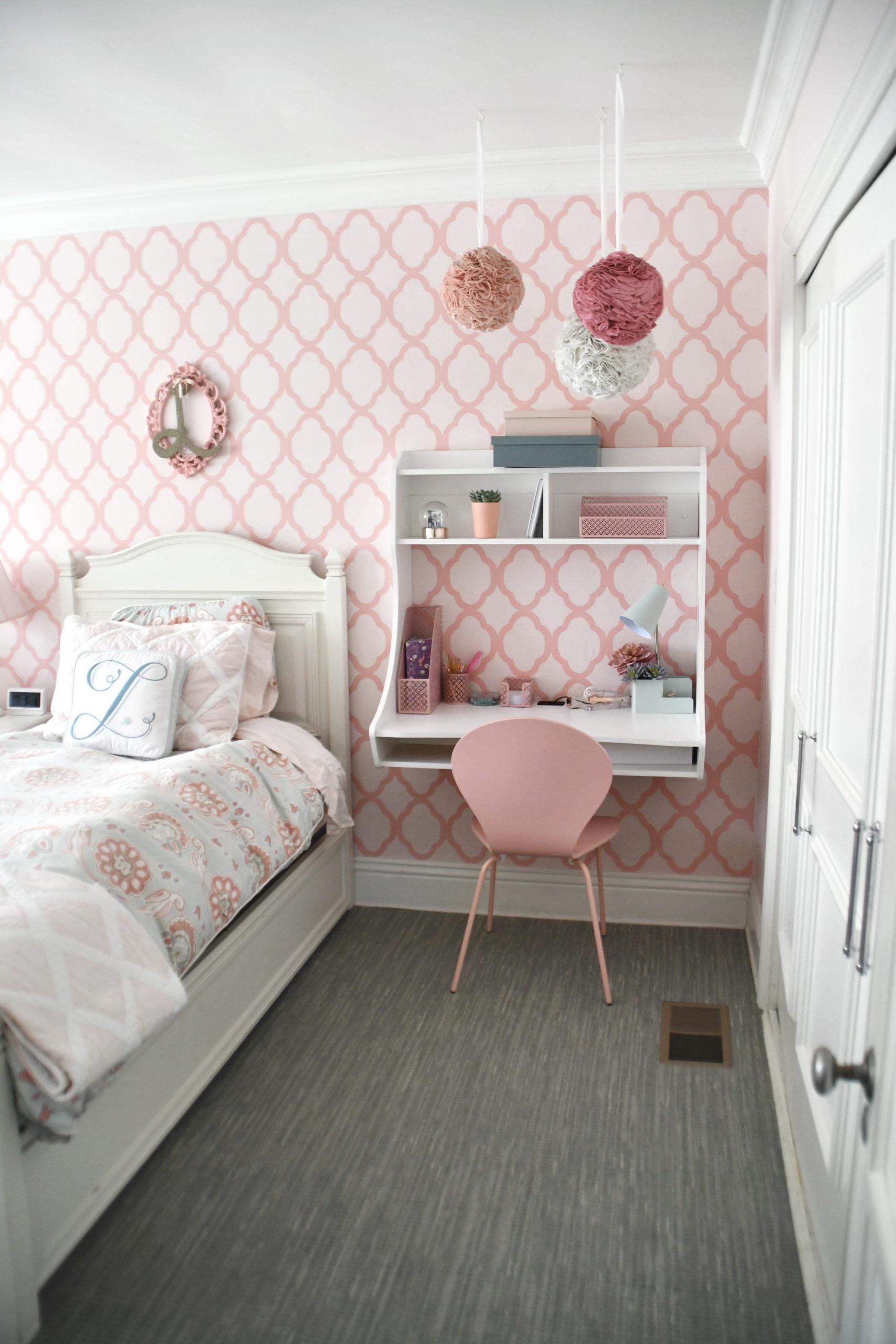Wall Desk in Shared Girls Room