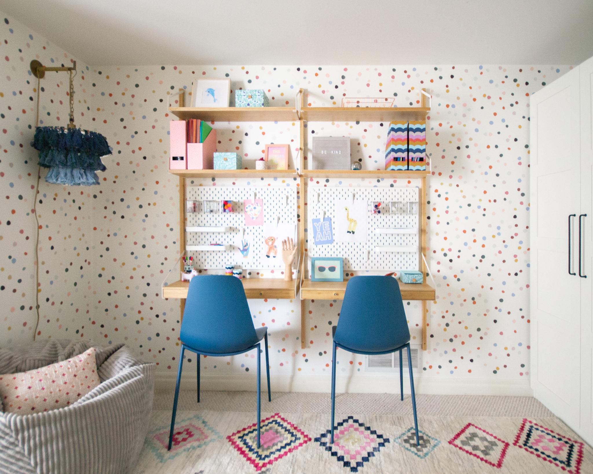 Two Wall Desk Homework Station