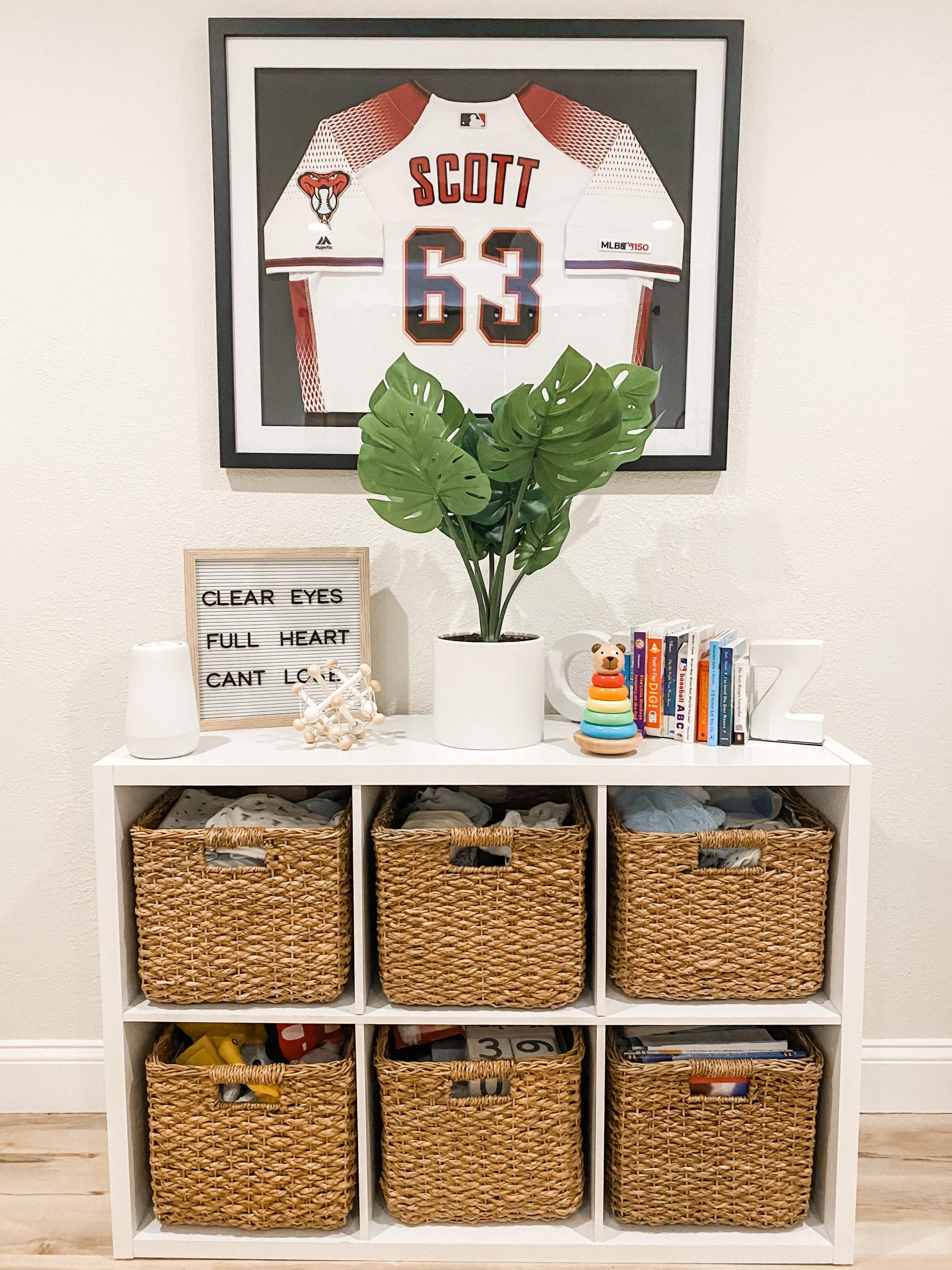 Framed Sports Jersey in Baby Boy Nursery