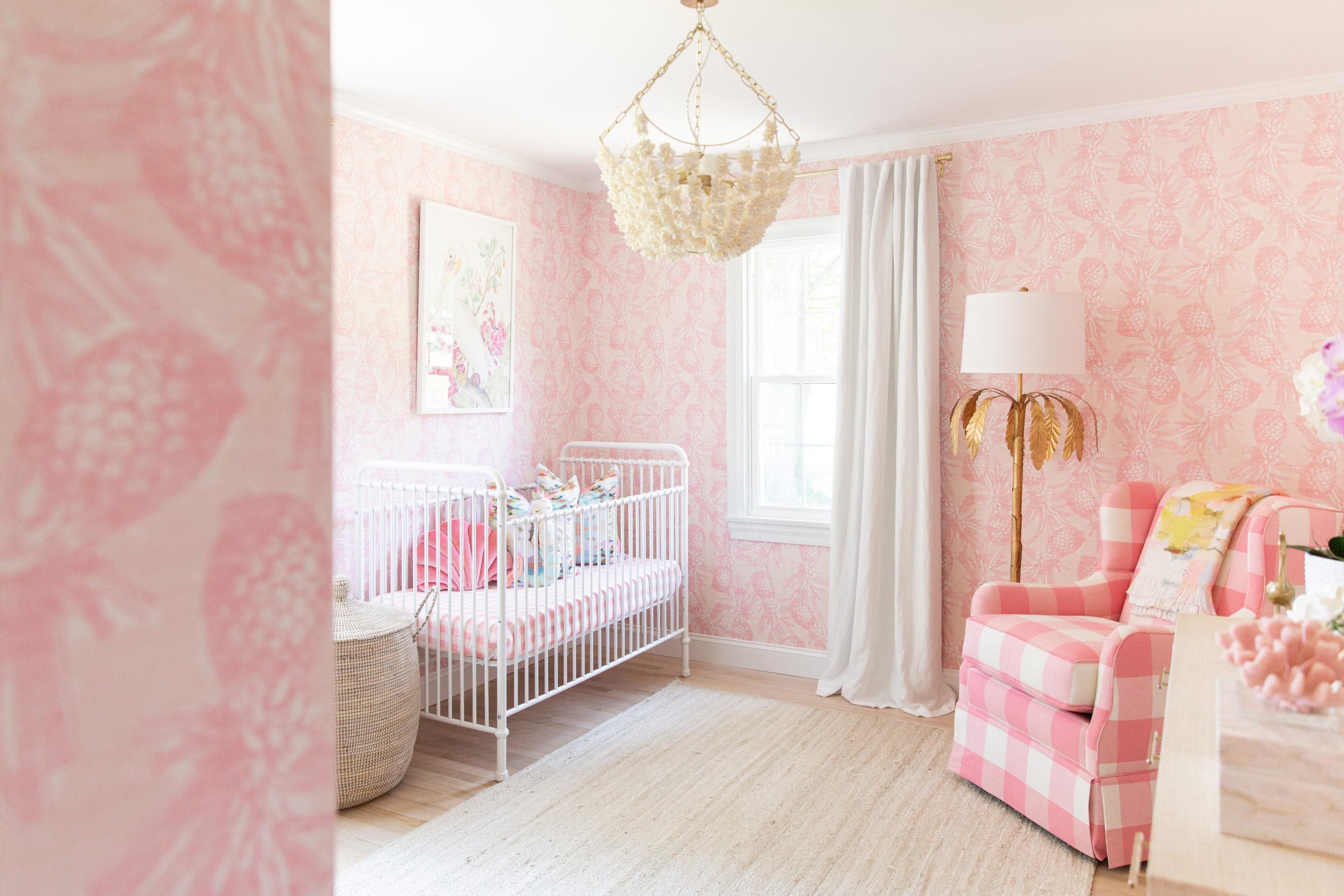 Baby Girl Pink Coastal Nursery by McKenna Bleu
