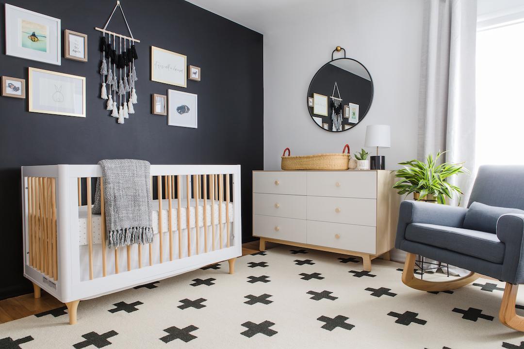 Modern Black and White Scandinavian Nursery