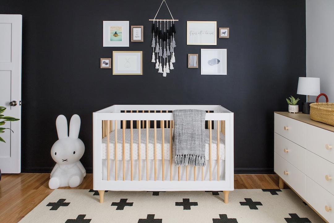 Scandinavian Design Black and White Nursery