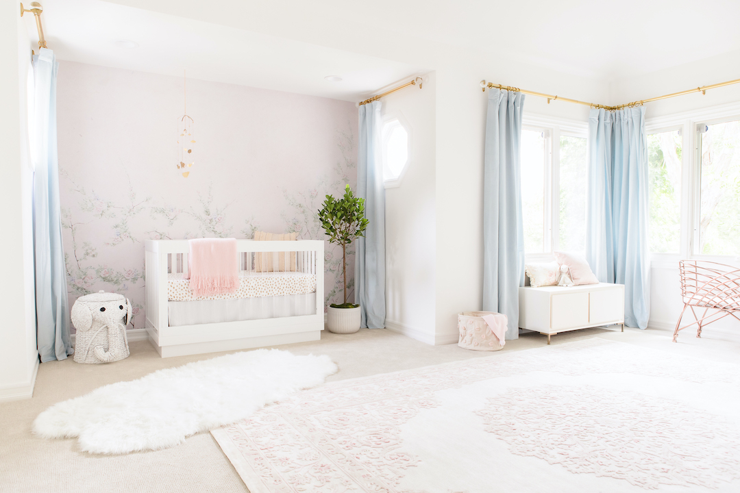 Pink & Blue Nursery by Little Crown Interiors