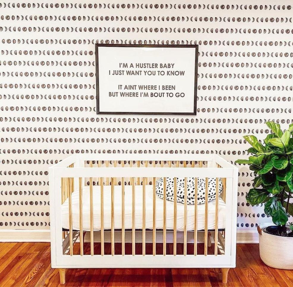 Celestial Design Trend - Noah Wallpaper in Nursery by @jbarrera404