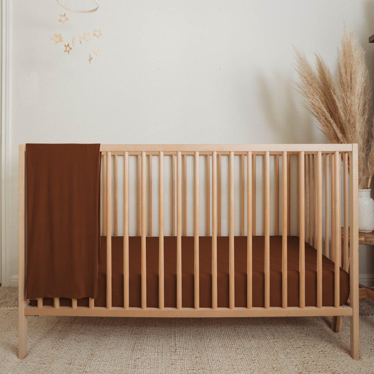 Rust as a Neutral Nursery Trend -Rust Organic Bamboo Crib Sheet