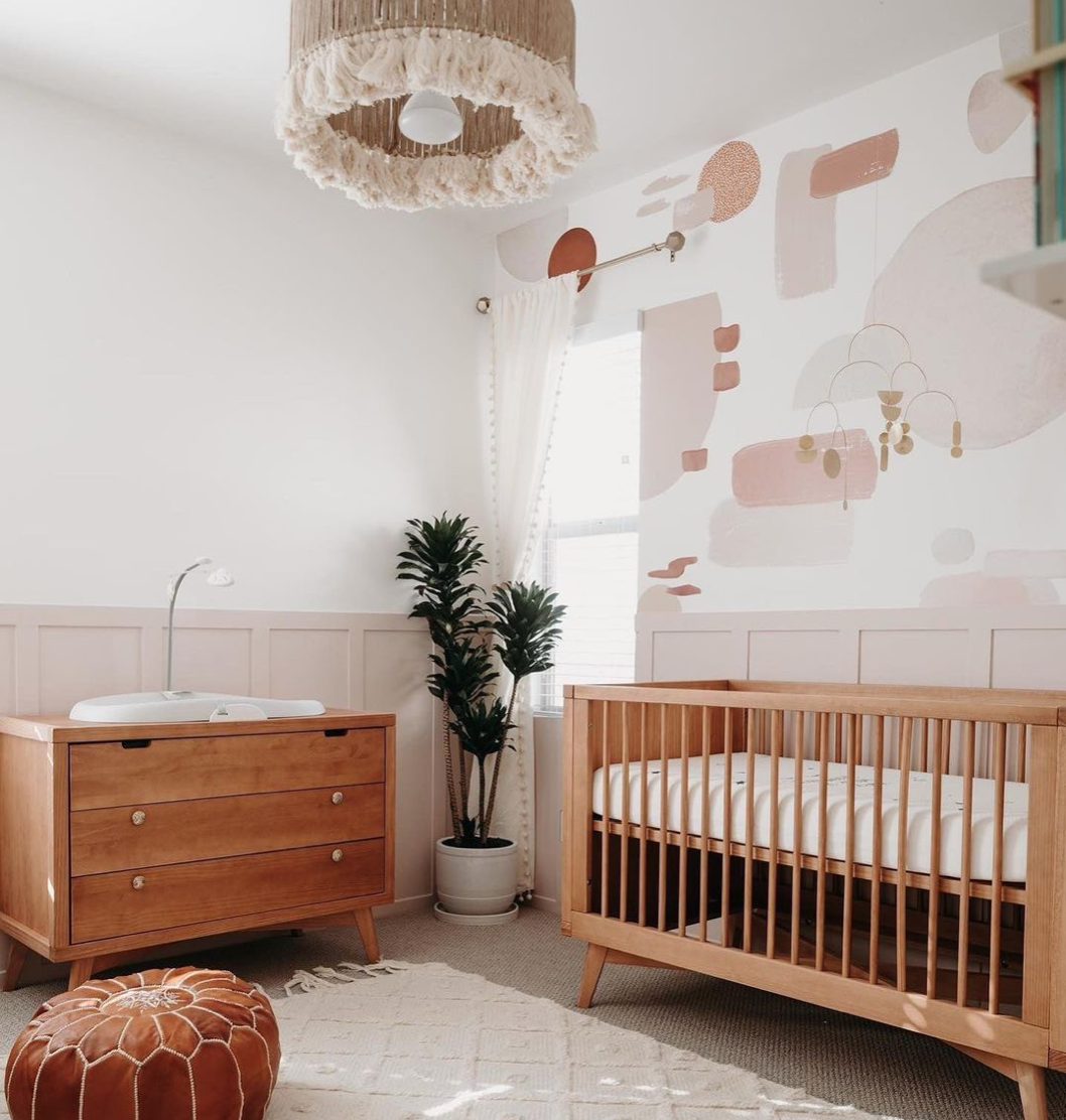 Abstract Nursery Trend - Canyon Colors Decals in Nursery by @_amandajoachim