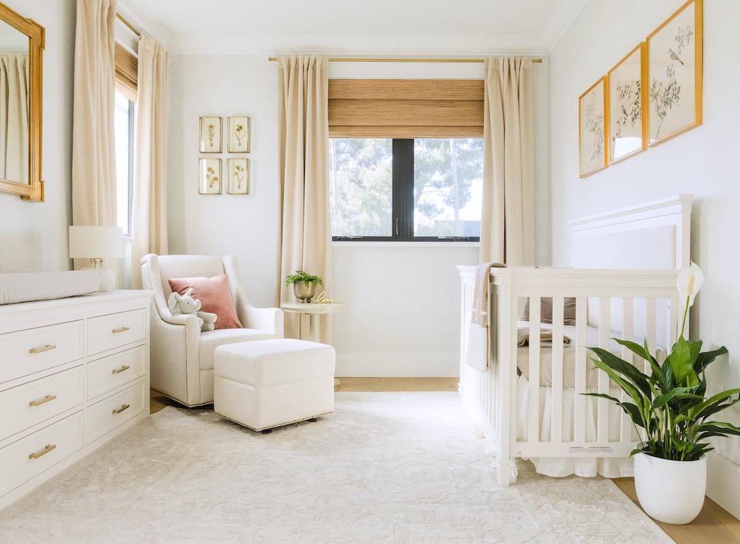 Naomi Boyer Neutral Girls Nursery by Little Crown Interiors