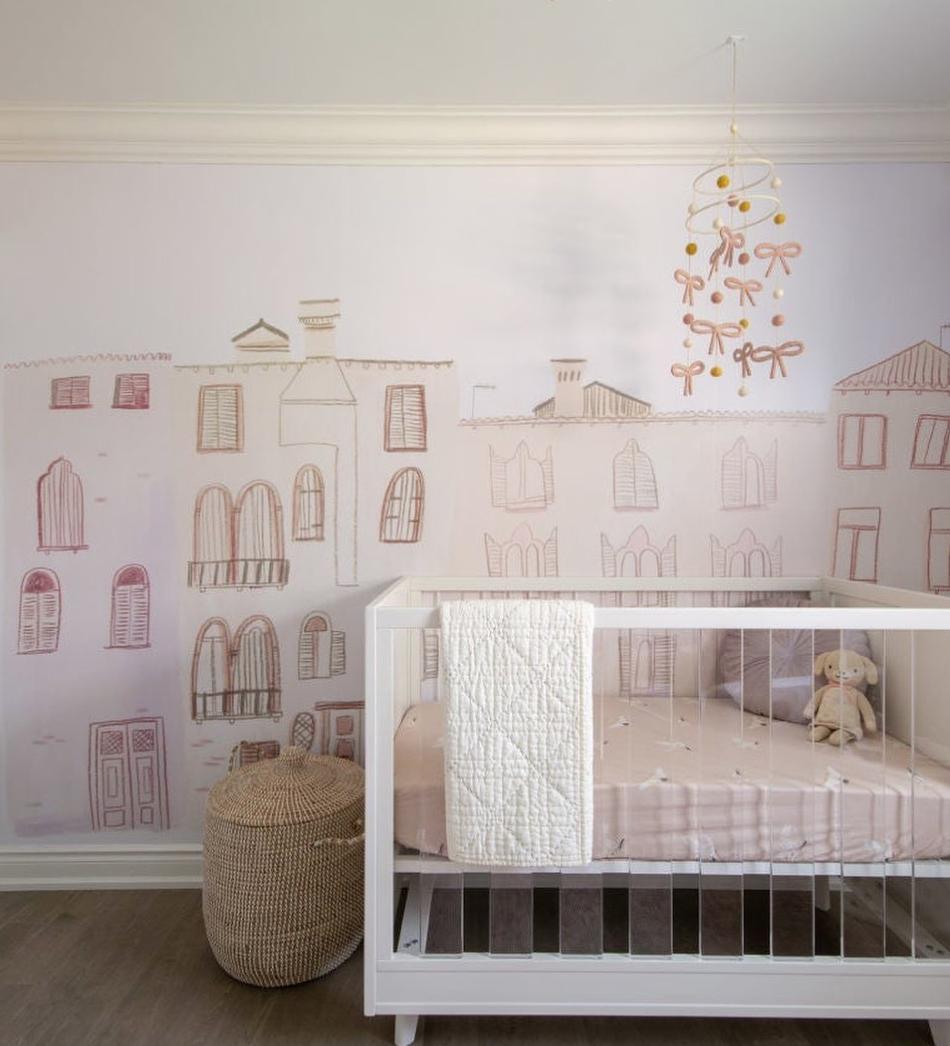 Nursery Trends - Explore More -Medina Wallpaper in Nursery by @maisonellieinteriors
