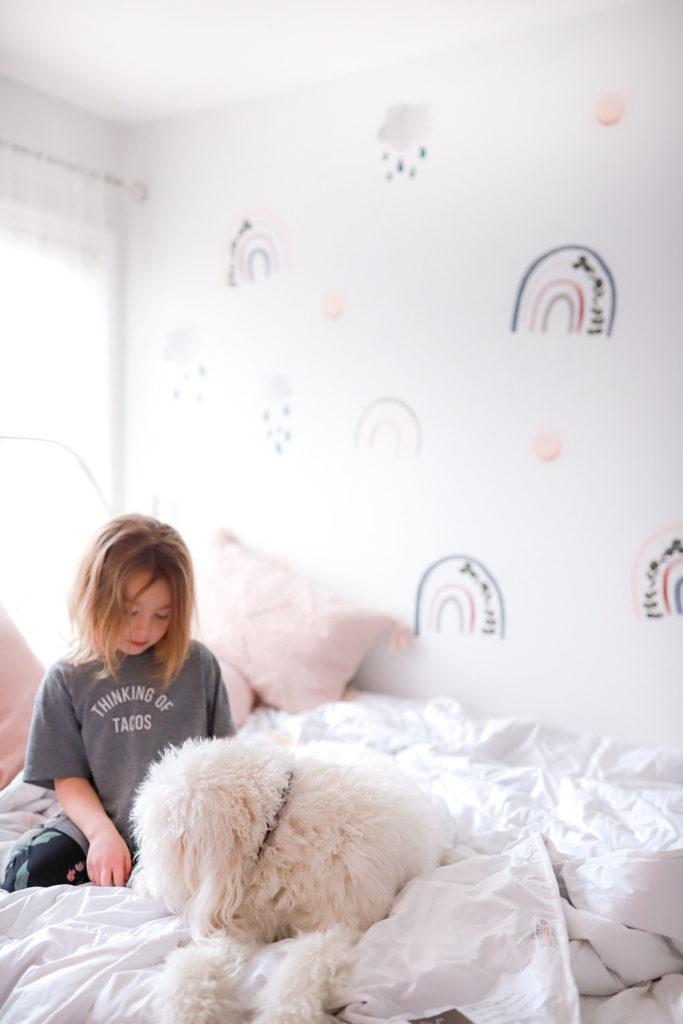little girls room decor rainbow