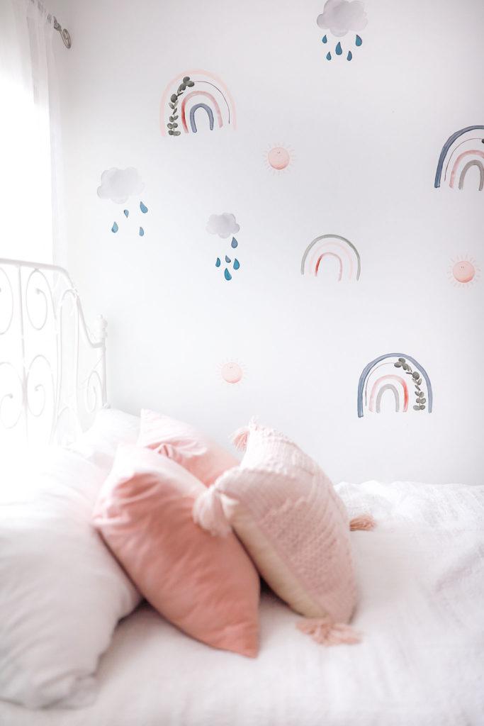 blush rainbow room decor