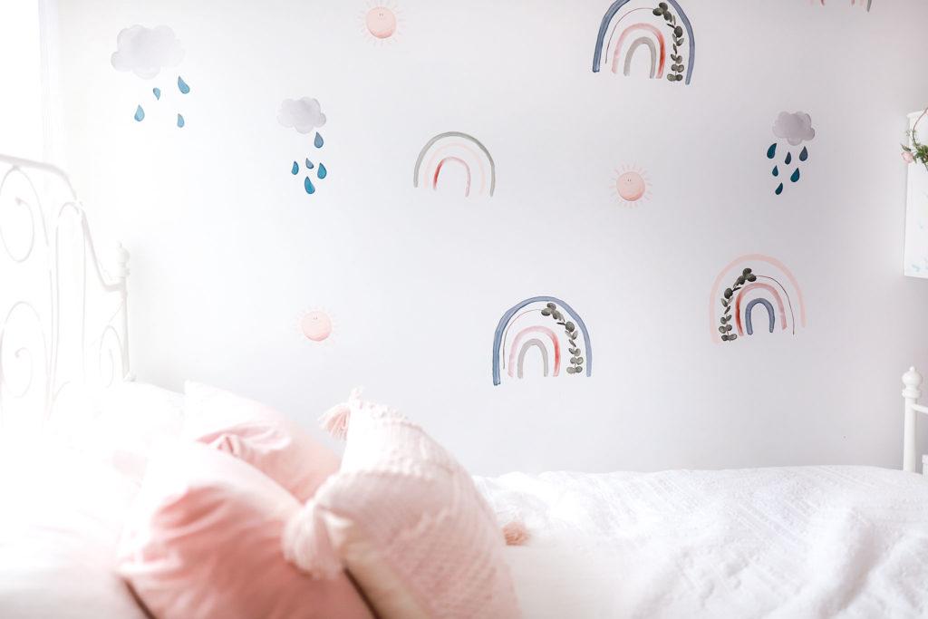 rainbow wall decals little girls room