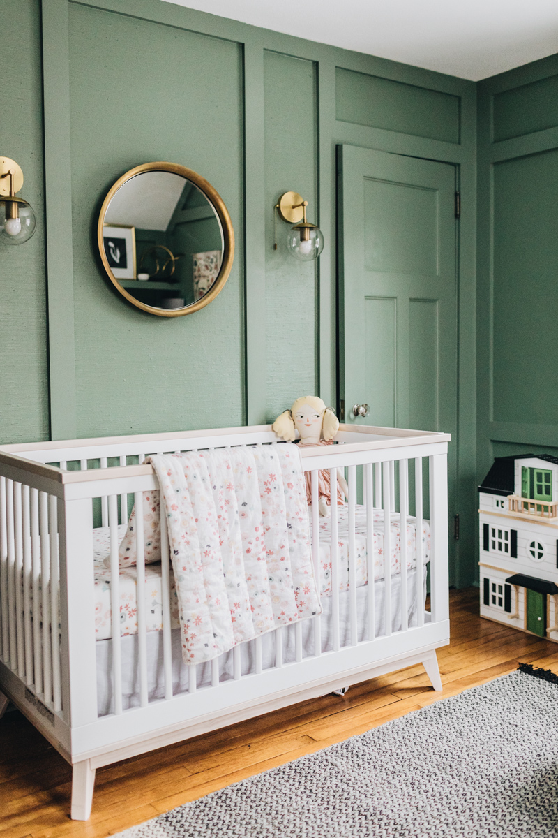 Green Nursery with Molding