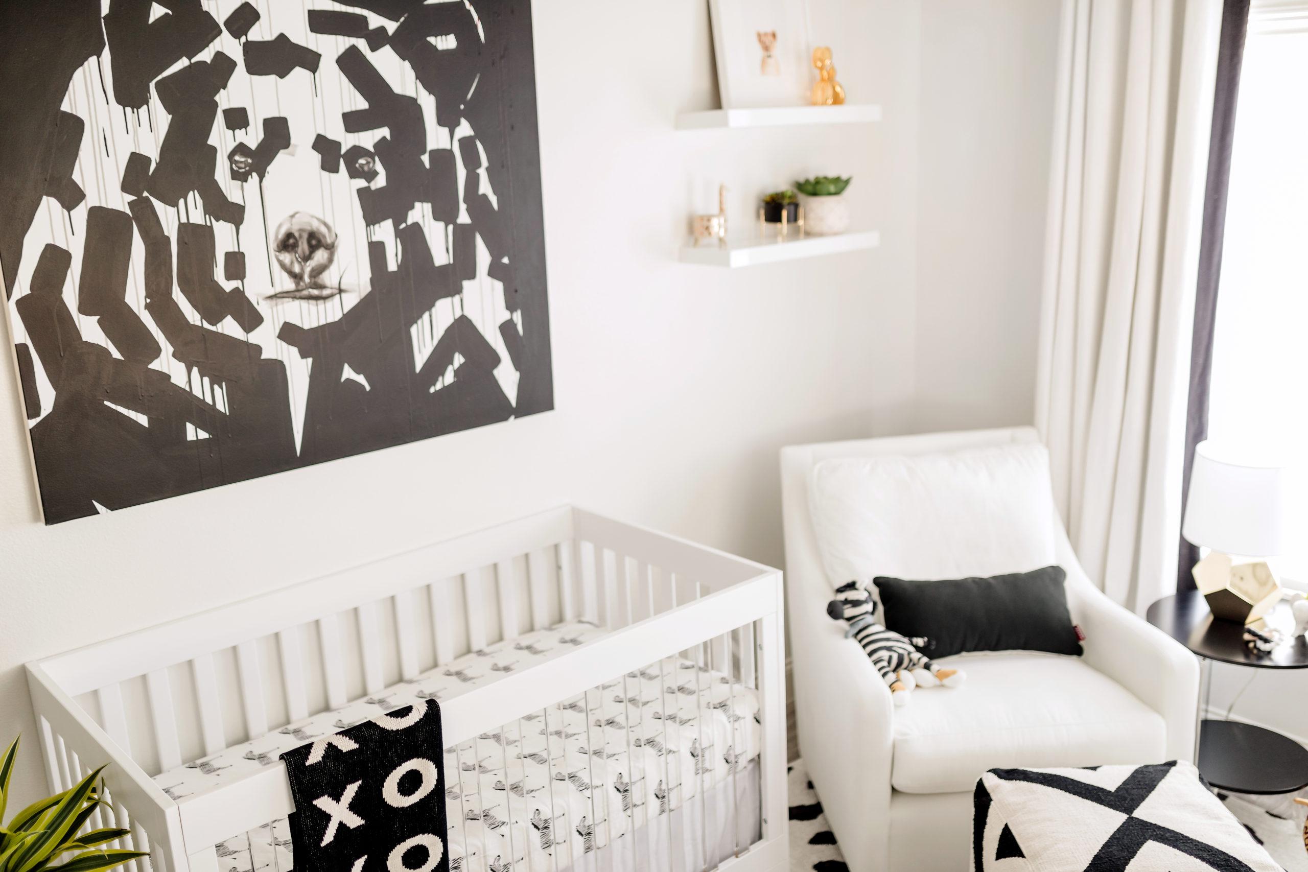 Black and White Nursery Design
