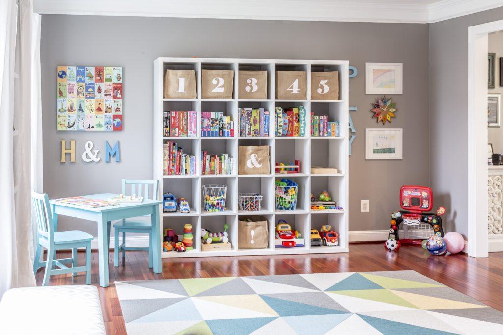 Bright and Bold Modern Playroom