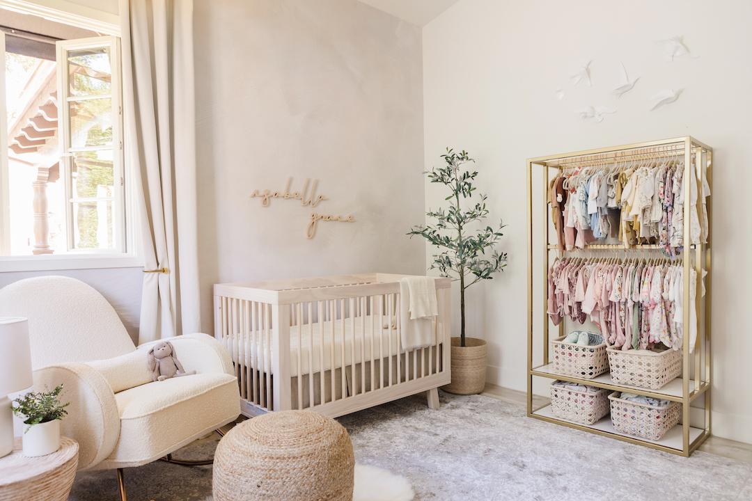 Baby Girl Neutral Nursery Alternative Clothes Storage No Closet