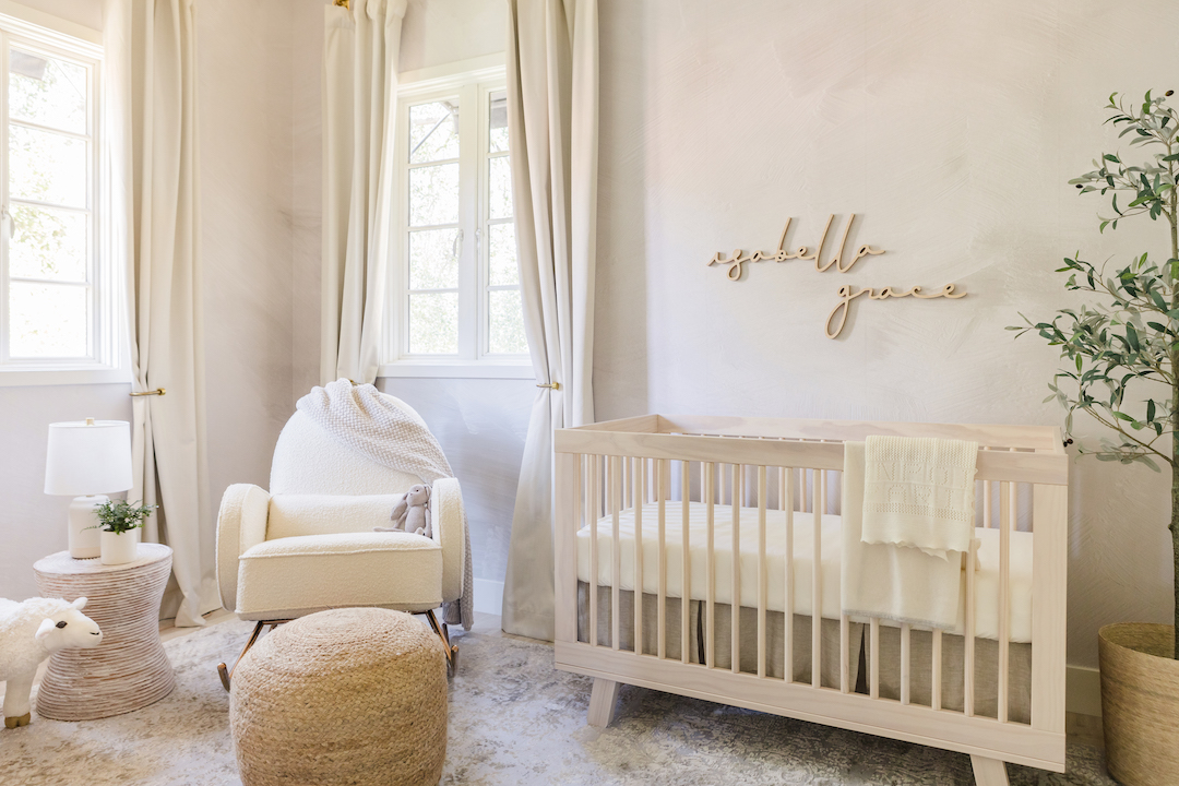 Natural Neutral Nursery Design by Little Crown Interiors